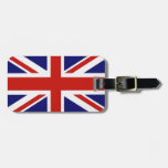 Bandera británica etiqueta para equipaje
