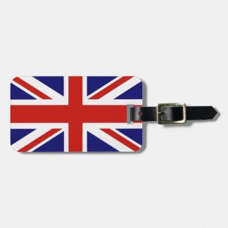 Bandera británica etiquetas de equipaje