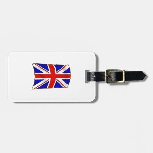 Bandera británica etiquetas maletas