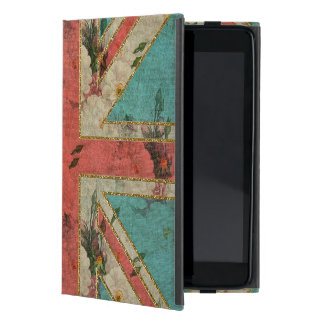 Bandera BRITÁNICA floral del vintage de moda femen iPad Mini Cárcasa