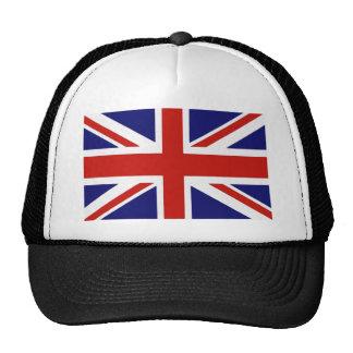 Bandera británica gorros bordados