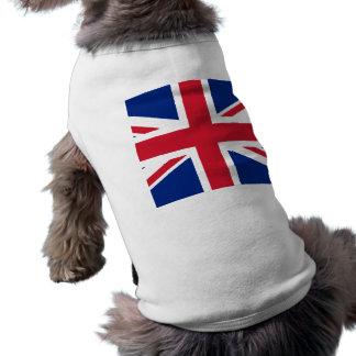 Bandera británica Gran Bretaña de Union Jack Reino Camiseta De Perrito