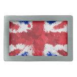 Bandera británica hebillas cinturón