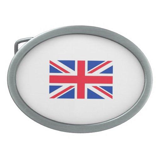 Bandera británica hebillas cinturón ovales