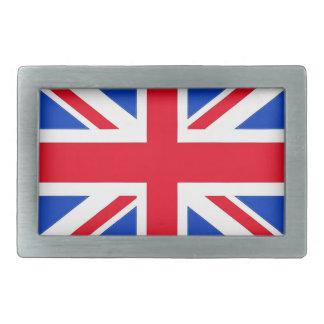 Bandera británica hebillas de cinturón rectangulares