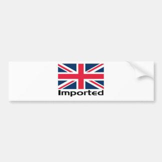 Bandera BRITÁNICA importada Etiqueta De Parachoque