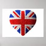 Bandera británica impresiones