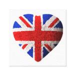 Bandera británica impresiones en lienzo estiradas