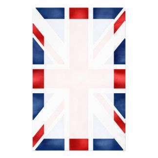 Bandera británica inmóvil personalized stationery