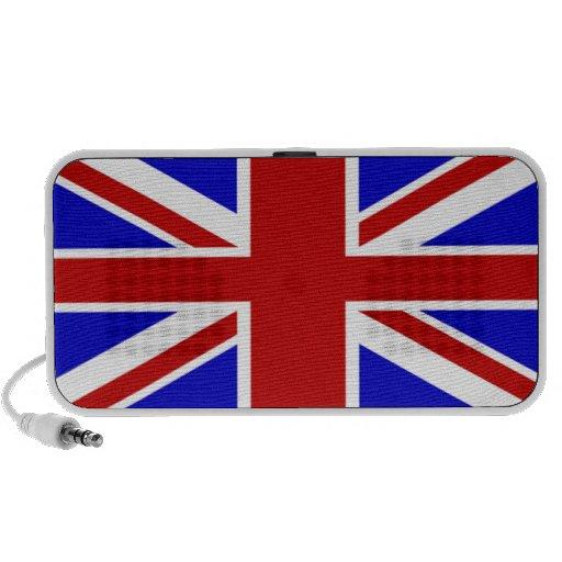 Bandera británica laptop altavoz