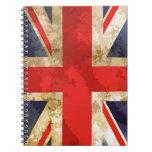 Bandera británica libros de apuntes