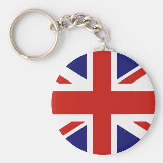 Bandera británica llavero redondo tipo pin