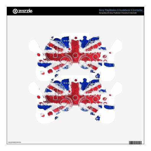 Bandera británica mando PS3 skins