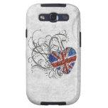 Bandera británica ornamental samsung galaxy s3 protectores
