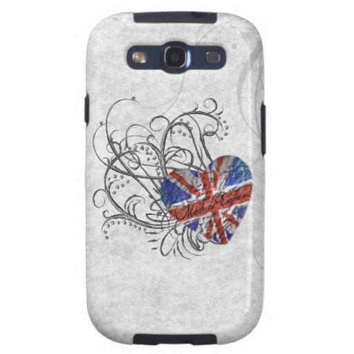 Bandera británica ornamental galaxy SIII coberturas