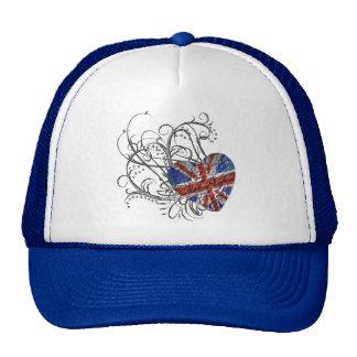Bandera británica ornamental gorra