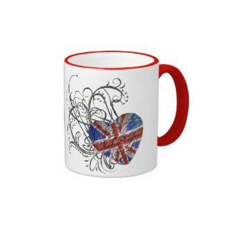 Bandera británica ornamental tazas