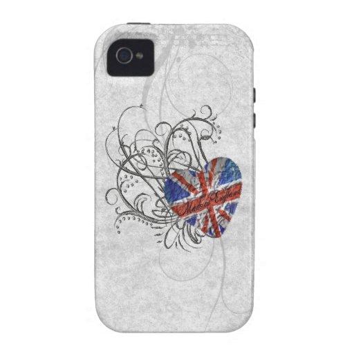Bandera británica ornamental vibe iPhone 4 fundas