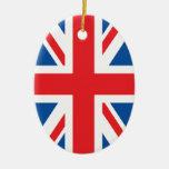 Bandera británica ornamento para reyes magos