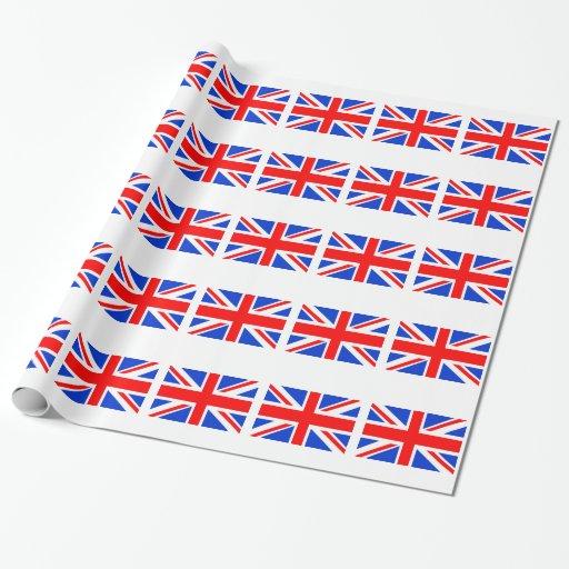 Bandera británica papel de regalo