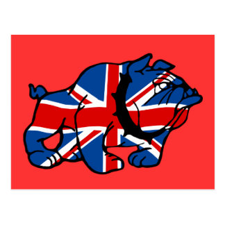 Bandera británica patriótica de Britsh del dogo Tarjeta Postal
