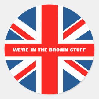 Bandera británica etiquetas