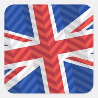 Bandera BRITÁNICA Pegatina Cuadrada