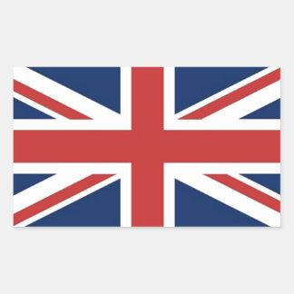 Bandera británica pegatina rectangular