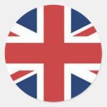 Bandera británica pegatina redonda