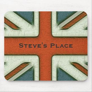 Bandera británica personalizada tapetes de ratones