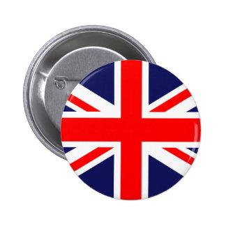 Bandera BRITÁNICA Pin Redondo De 2 Pulgadas