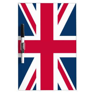 bandera británica pizarras
