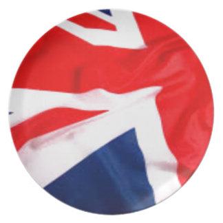 Bandera británica platos para fiestas