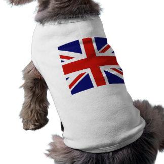 Bandera británica playera sin mangas para perro