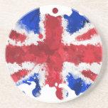 Bandera británica posavasos cerveza