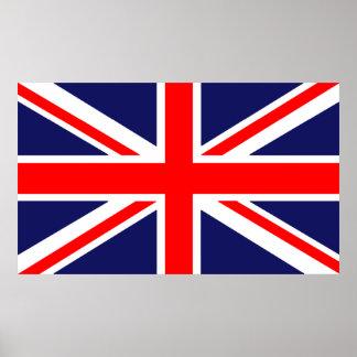 Bandera británica póster