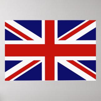 Bandera británica poster