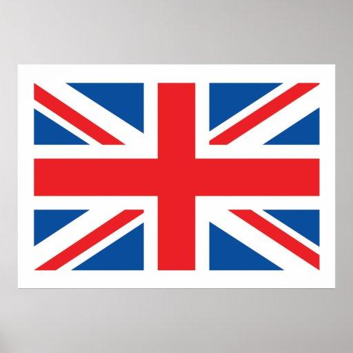 Bandera británica posters