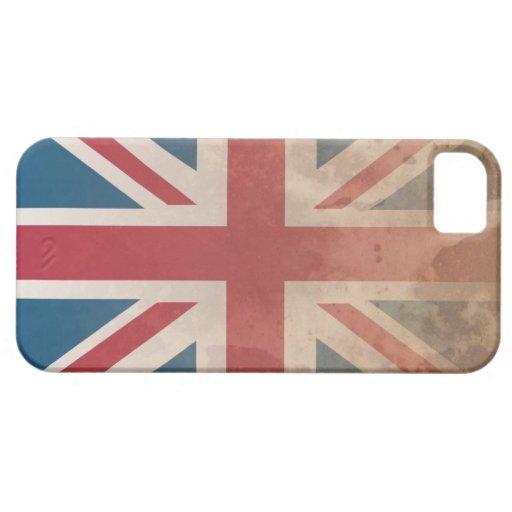 Bandera británica, (Reino Unido, Gran Bretaña o iPhone 5 Carcasa