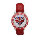Bandera británica reloj de mano