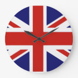 Bandera británica reloj de pared