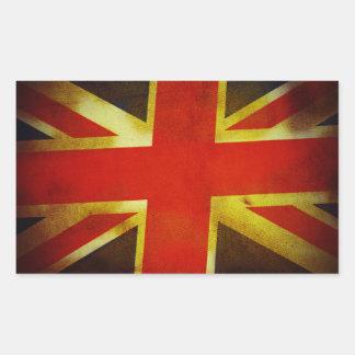 Bandera británica resistida pegatina rectangular