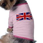 Bandera británica ropa de perro