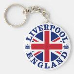 Bandera británica Roundel de Liverpool Inglaterra Llaveros Personalizados