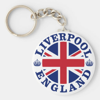 Bandera británica Roundel de Liverpool Inglaterra Llavero Redondo Tipo Pin