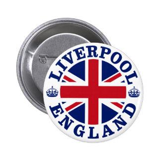 Bandera británica Roundel de Liverpool Inglaterra Pin Redondo De 2 Pulgadas