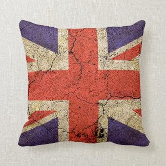 Bandera BRITÁNICA sucia (Union Jack) Almohadas