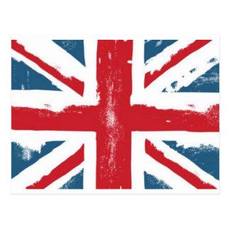 Bandera británica tarjetas postales