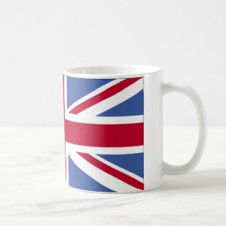 Bandera británica tazas