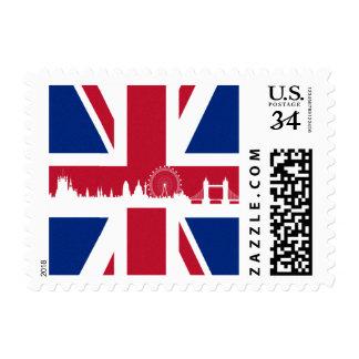 Bandera británica timbre postal